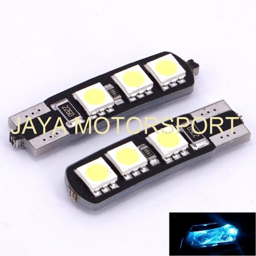 JMS - Lampu LED Mobil / Motor / Senja T10 w5w / Wedge Side Canbus 6 SMD 5050 - Crystal Blue