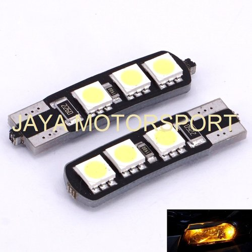 JMS - Lampu LED Mobil / Motor / Senja T10 w5w / Wedge Side Canbus 6 SMD 5050 - Yellow