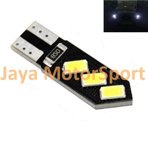 JMS - Lampu LED Mobil / Motor / Senja T10 w5w / Wedge Side CANBUS 6 SMD 5730 Oblique - White