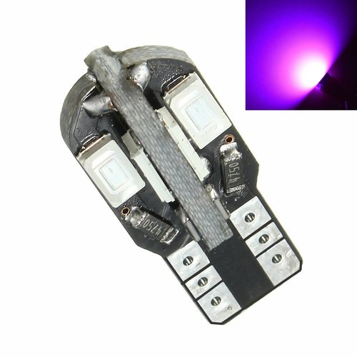 JMS - Lampu LED Mobil / Motor / Senja / Kabin T10 / Wedge Side Canbus 8 SMD 5730 - Pink