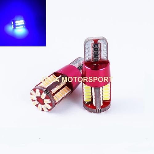 JMS - Lampu LED Mobil / Motor / Senja / Kabin T10 w5w / Wedge Side CANBUS 57 SMD 3014 - Blue