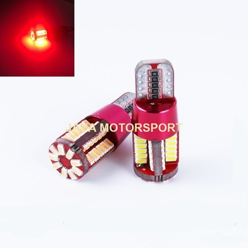 JMS - Lampu LED Mobil / Motor / Senja / Kabin T10 w5w / Wedge Side CANBUS 57 SMD 3014 - Red