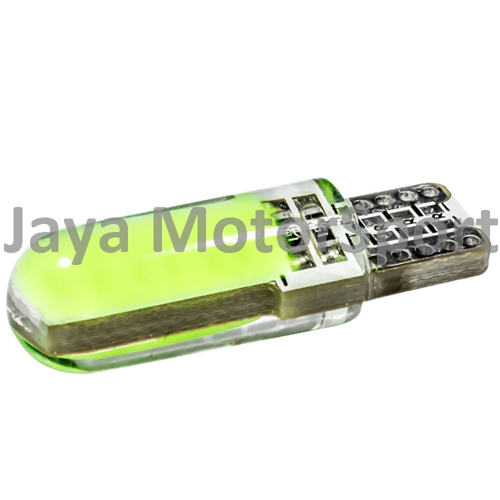 JMS - Lampu LED Mobil / Motor / Senja T10 Silicone COB 12 SMD - Blue