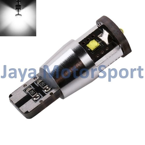 JMS - Lampu LED Mobil / Motor / Senja T10 Wedge Side CANBUS 15W 3smd Cree