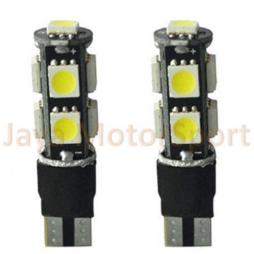 JMS - Lampu LED T10 9 SMD 5050 Strobe Flash Modes (Lampu Strobo) - Red