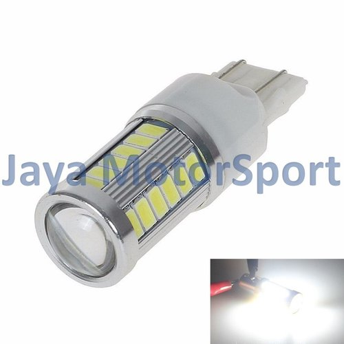 JMS - Lampu LED Mobil / Motor / Senja / Rem / Mundur 7443 W21 T20 33 SMD 5730 White