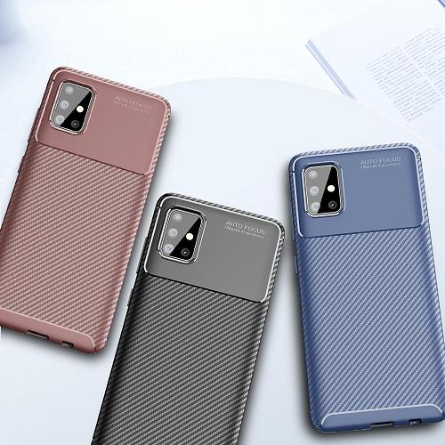 Case Samsung A51 Softcase Samsung Galaxy A51 Shockproof Carbon