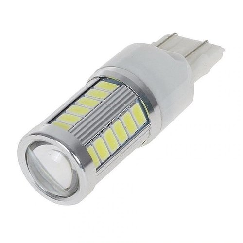 Lampu LED Mobil / Motor 7443 W21 T20 33 SMD 5730 Red