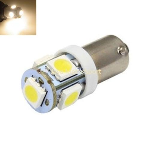 Lampu LED Mobil/Motor Bayonet 1895 BA9S 5 SMD 5050 Warm White