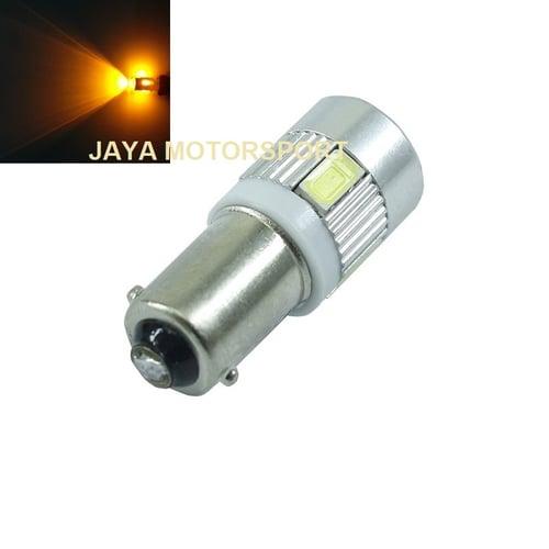 Lampu LED Mobil Motor Bayonet BA9S H6W T4W 6 SMD 5630 Alloy Yellow