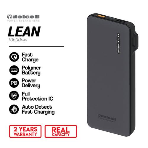 DELCELL Lean Powerbank Real Capacity 38.85WH 10500 mAh