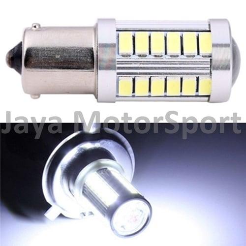 JMS - Lampu LED Mobil / Motor / Bayonet 1 Kaki S25 1156 / BA15S 33 SMD 5730 - White