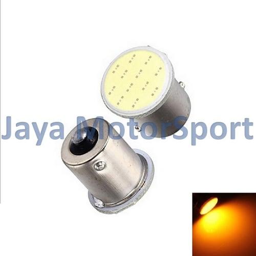 JMS - Lampu LED Mobil / Motor / Bayonet S25 1156 / BA15S COB 12 SMD - Yellow