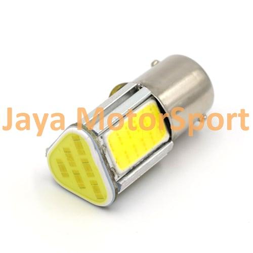 JMS - Lampu LED Mobil Motor Bayonet S25 1156 BA15S COB 24 SMD - Crytal Blue