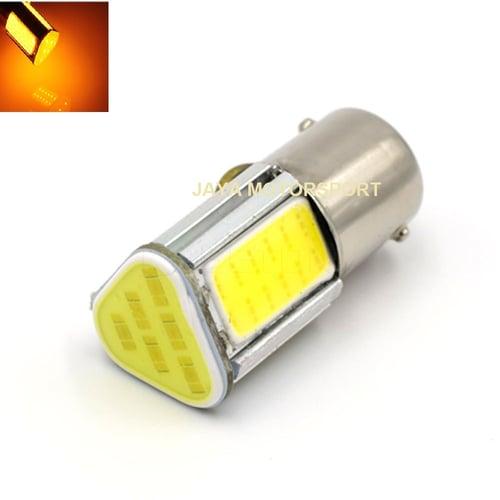 JMS - Lampu LED Mobil Motor Bayonet S25 1156 BA15S COB 24 SMD - Yellow