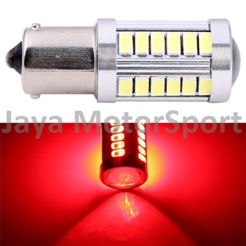 JMS - Lampu LED Mobil / Motor / Bayonet S25 1156 / BA15S 33 SMD 5730 Strobe - Red