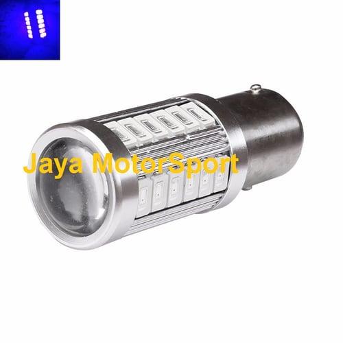 JMS - Lampu LED Mobil / Motor / Bayonet S25 1157 / BAY15D 33 SMD 5730 - Blue