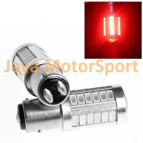 JMS - Lampu LED Mobil / Motor / Bayonet S25 1157 / BAY15D 33 SMD 5730 - Red