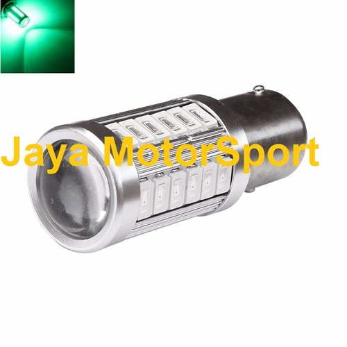 JMS - Lampu LED Mobil / Motor / Bayonet S25 1157 / BAY15D 33 SMD 5730 - Green