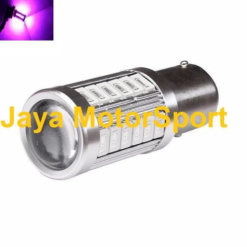 JMS - Lampu LED Mobil / Motor / Bayonet S25 1157 / BAY15D 33 SMD 5730 - Pink