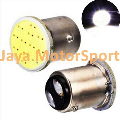 JMS - Lampu LED Rem Mobil / Motor S25 1157 / BAY15D COB 12 SMD 24 Volt - White