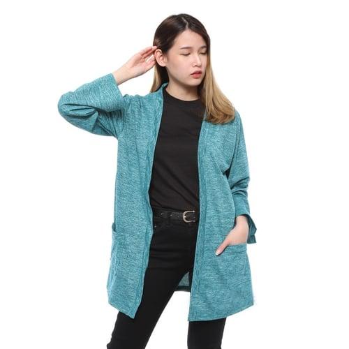 Rimas Gigi Cardigan Polos Kasual Wanita - Tosca Size XL