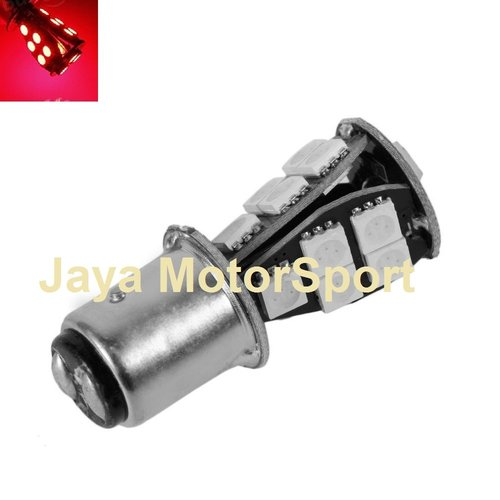 JMS - Lampu LED Mobil / Motor / Bayonet S25 1157 / BAY15D Canbus 18 SMD 5050 - Red