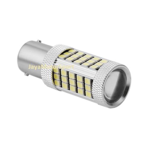 JMS Lampu LED Mobil Motor Bayonet S25 1157 BAY15D 63 SMD 2835 - Red