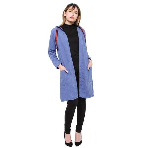 Rimas 9141 Polos Cardigan Panjang Wanita - Biru Tua Size L