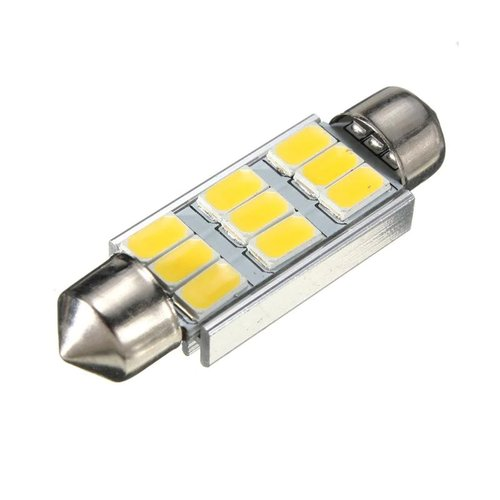 JMS Lampu LED Mobil Double Wedge Canbus 9 SMD 5630 39 mm - White