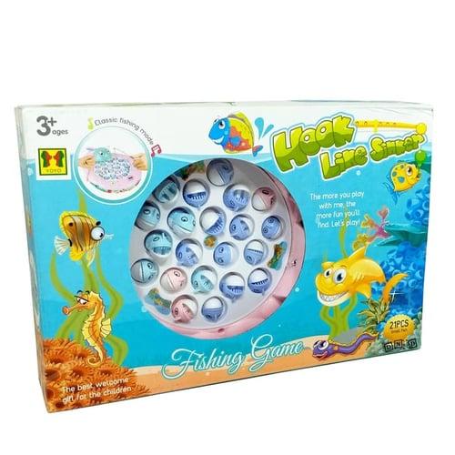 Fishing Game Hook Line Sinker 4 Pancingan 21 Ikan 3001 - Kids Toys