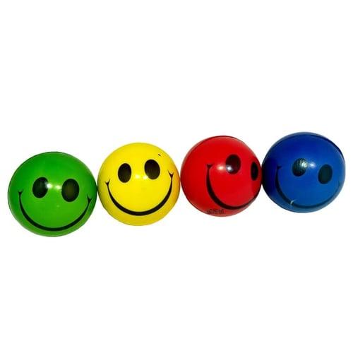 Squishy Busa Bola Remas Karakter Smile 4 Warna - Kids Toys