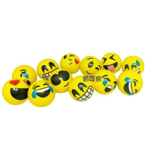 Bola Remas Squishy Busa Karakter Smile Kuning Kecil - Kids Toys