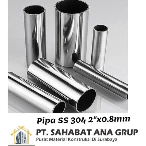 Pipa SS 304 2 Inch x0.8mm