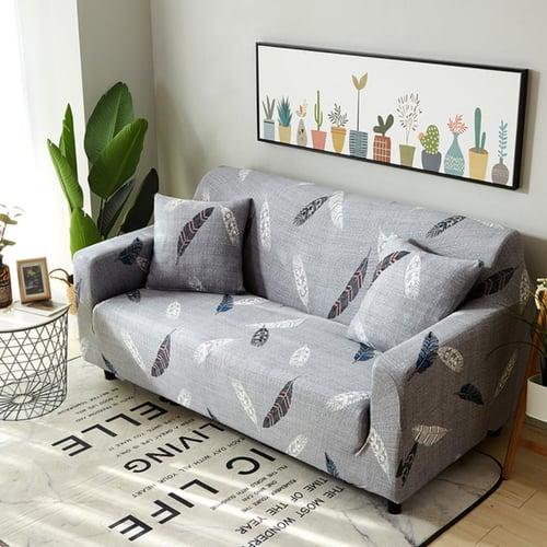 Sarung Sofa dan Bantal Bahan Elastis Grey Feather