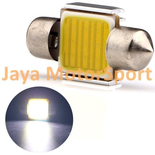 JMS - Lampu LED Mobil Kabin Plafon Festoon Double Wedge CANBUS COB 9 SMD 31mm - White