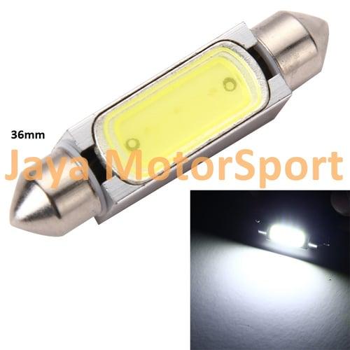 JMS - Lampu LED Mobil Kabin / Plafon / Festoon / Double Wedge CANBUS COB 3W - 36mm White