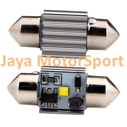 JMS - Lampu LED Mobil Kabin / Plafon / Festoon / Double Wedge CANBUS 1 SMD Cree - 31 mm White Model B