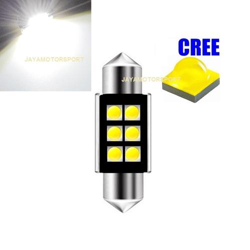 JMS - Lampu LED Mobil Kabin Plafon Festoon CANBUS 6SMD Cree Super Bright White 39mm