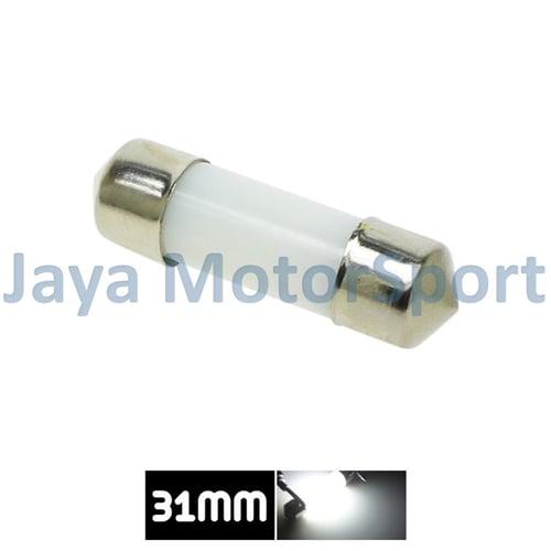 JMS - Lampu LED Mobil Kabin / Plafon / Festoon / Double Wedge Filiform COB 1 Watt 31mm - White