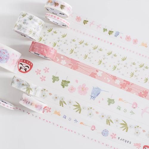 Sakura Assorted Masking Tape Set Selotip Motif