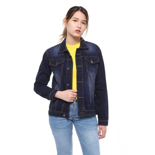 Rimas J11180 Jaket Denim Jeans Wanita - Navy Size M