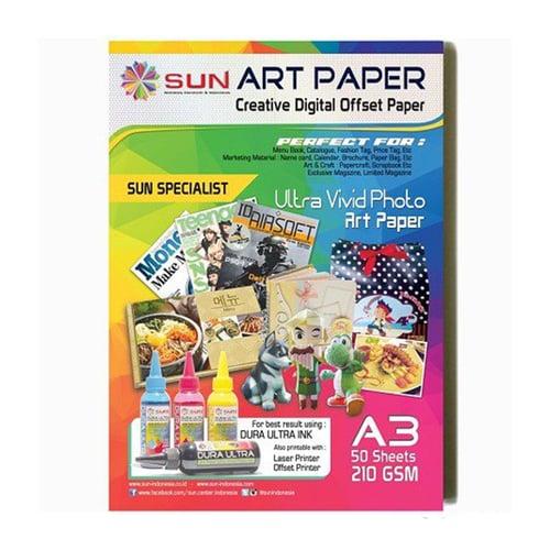 Art Paper SUN A3 210gram