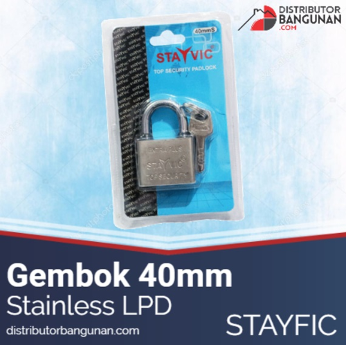 Gembok 40 Stainles Lpd STAYVIC