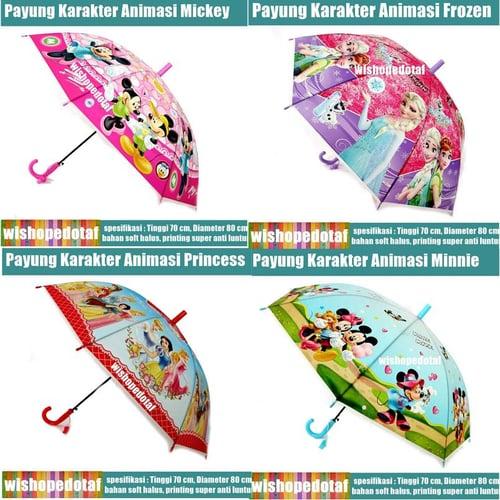 Payung animasi Anak Karakter Lucu