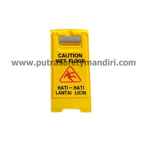 CAUTION WET FLOOR SIGN PAPAN TANDA PERINGATAN HATI HATI LANTAI LICIN MURAH