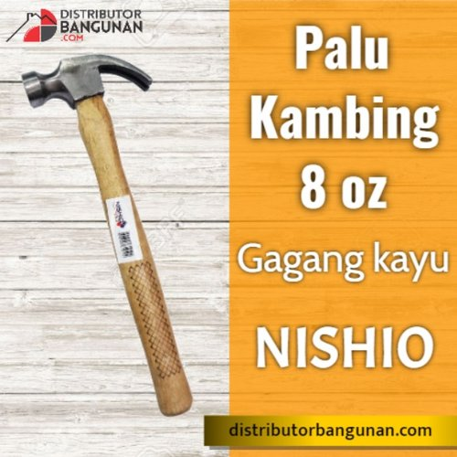 Palu Kambing 8 oz Gagang Kayu NISHIO