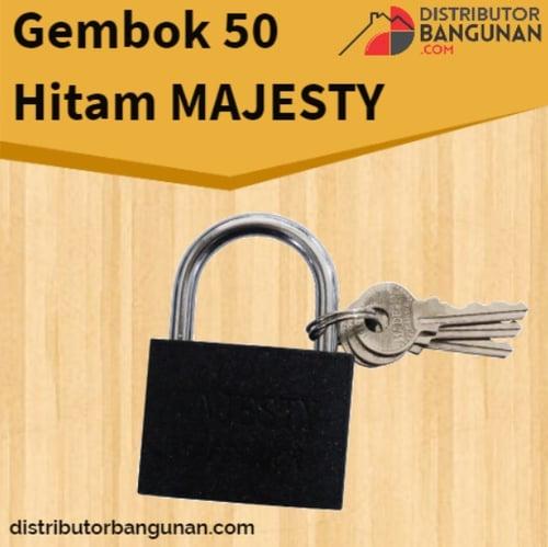 Gembok 50 Hitam MAJESTY (12 pcs)