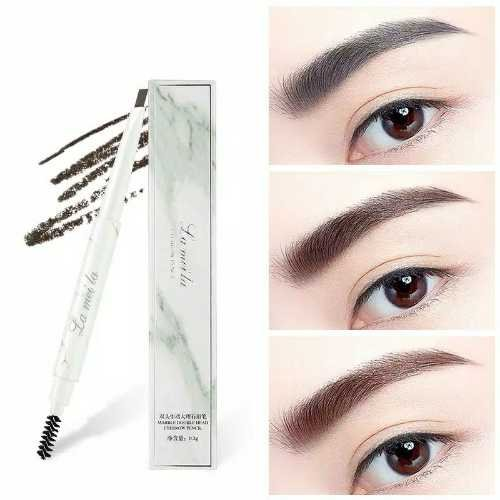 LAMEILA Eyebrow Pencil 2 in 1 Double Head Eyebrow Pencil+Brush