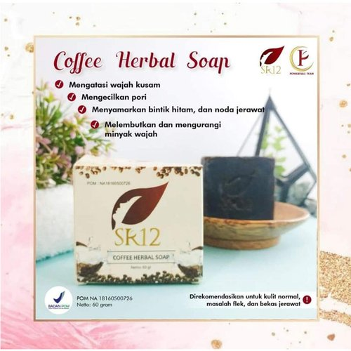SR12 Coffee Herbal Soap 60 Gr